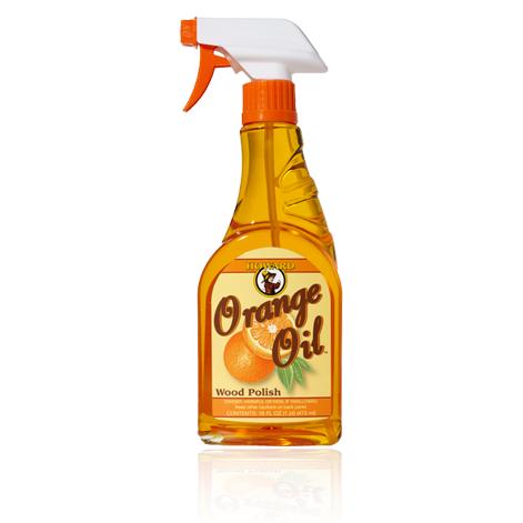 Dung dịch lau sạch bóng đồ gỗ hương cam dạng bình xịt 140ml - OR0004
